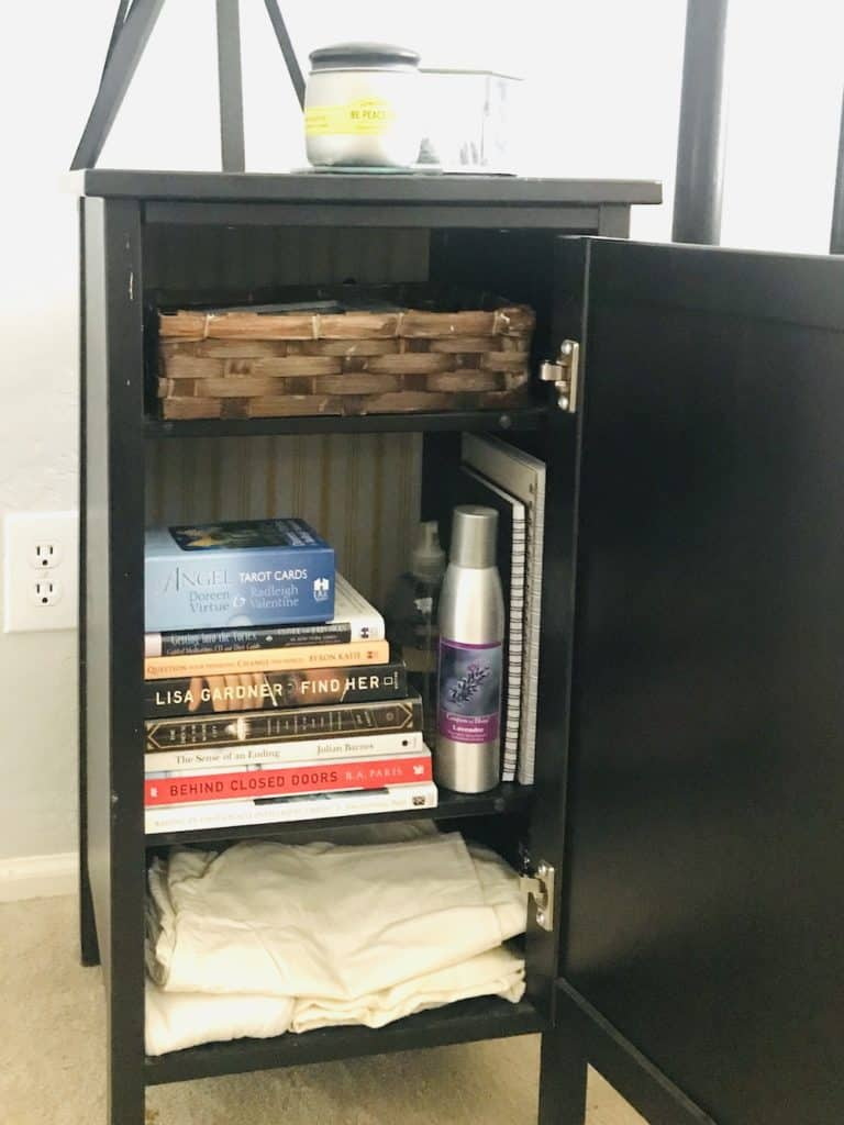 DIY Bedroom Organization - Nightstand