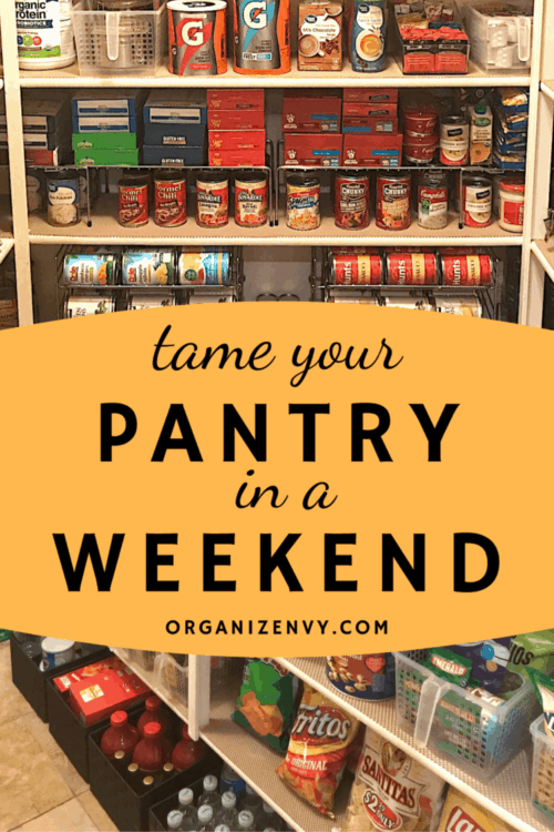 Reorganize a walk-in pantry in a weekend