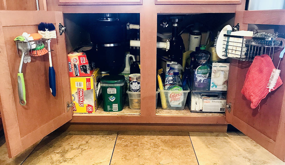 Easy organizing projects under the kitchen sink