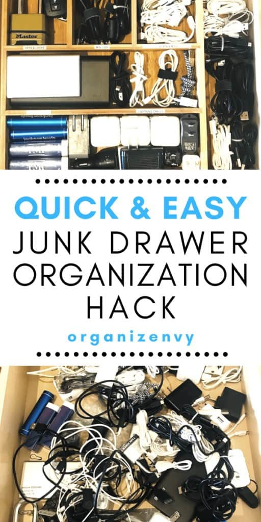 Organize chargers and cables with a cutlery tray