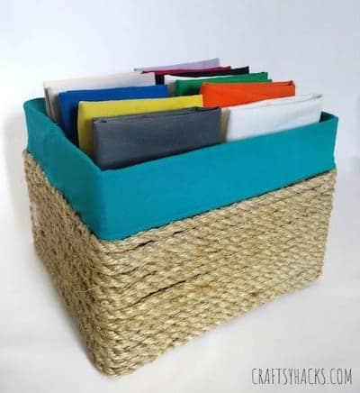 Nursery Organization: DIY baskets