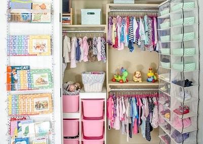 Nursery Organization: Baby Clothes Storage