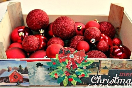 DIY recycled Christmas card crate from PinkFortitude.com