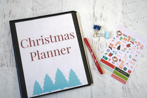Create your own planner from thestressfreechristmas.com