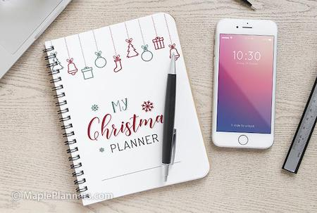 Free Christmas planner with recipe cards from MaplePlanners.com