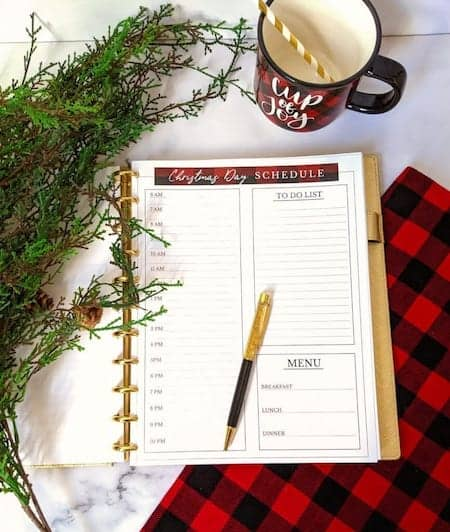 Free holiday planner printables from practicalperfectionut.com