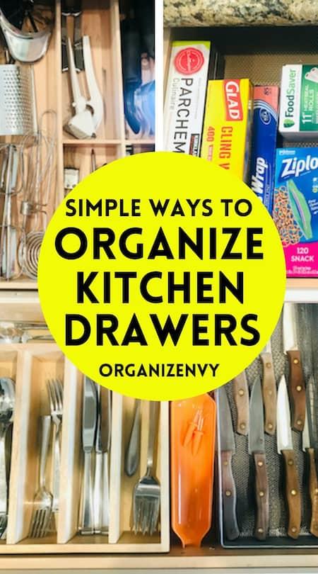 Simple Ways to Organize Kitchen Drawers
