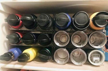 Organize glassware: bottle holder organizer