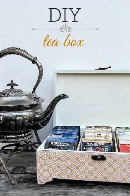 Coffee Station: DIY countertop tea box