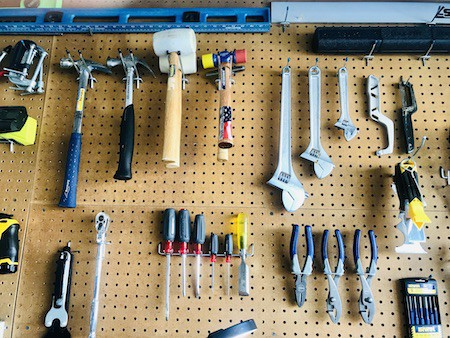 Organize your garage with a DIY pegboard tool organizer